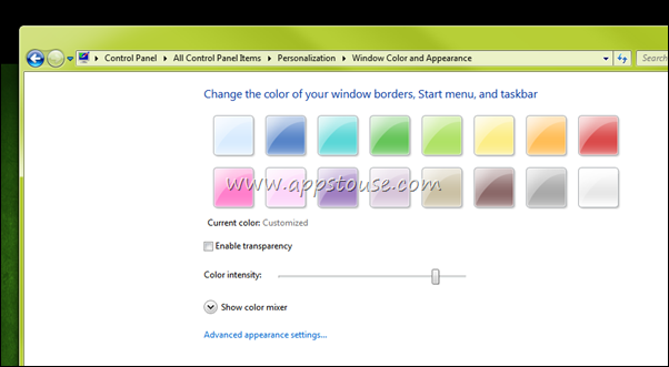 Disable Transparency In Windows 7