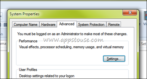 Windows 7 Visual Settings