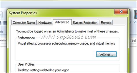 Windows 7 Visual Settings