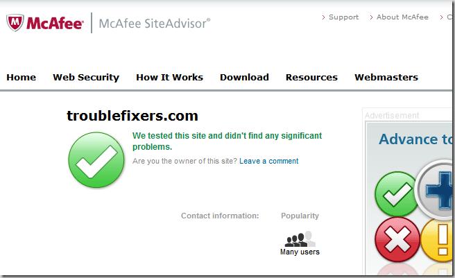 Site Advisor