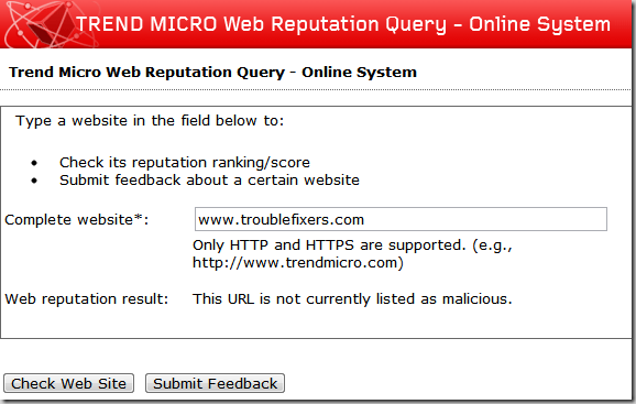 trend micro web reputation query