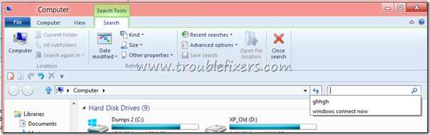 Delete Windows 8 Searched Queries History