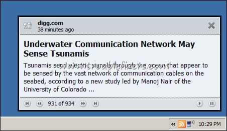 real time desktop rss alert