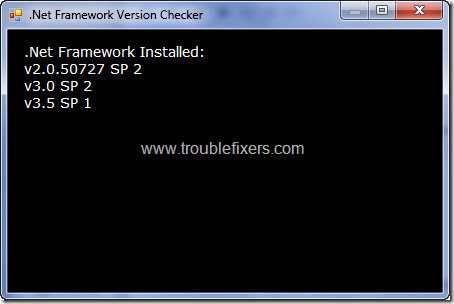 Net Framework Version Checker