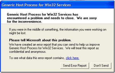 windowsgenerichostforwin32error thumb - [ Fixed ] - Generic Host Process For Win32 Service