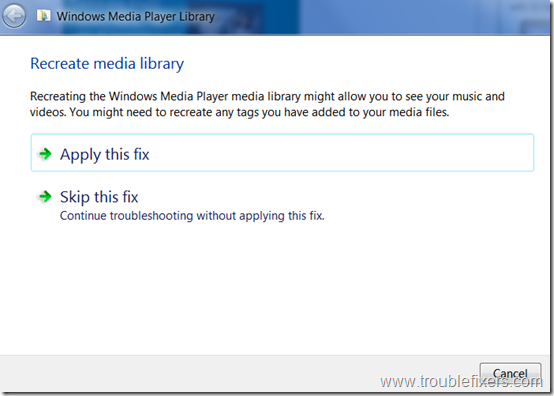Windows-media-player-library-diagnostics