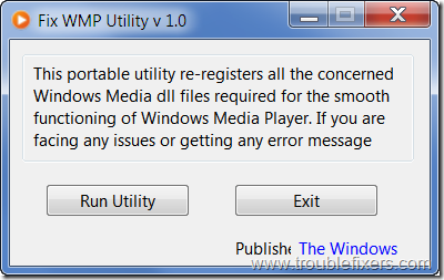 fix wmp utility