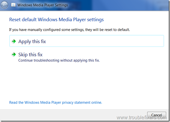 windows-media-player-configuration-reset