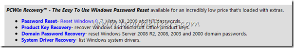 windows 8 pc password recovery