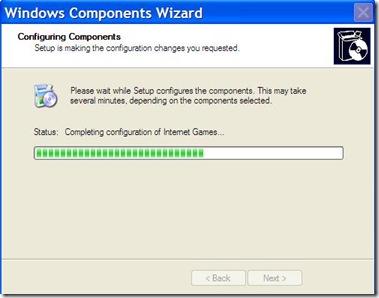 Windows Component Wizard