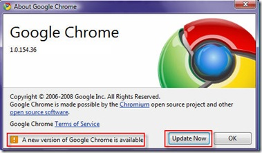 Upgrade Google Chrome