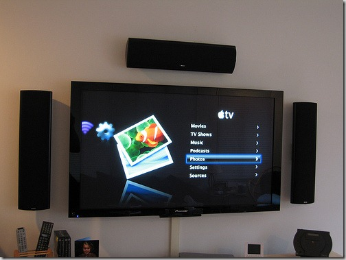 LCD-TV-connected-to-computer