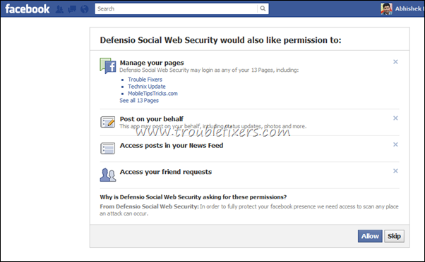 protect facebook pages from spam