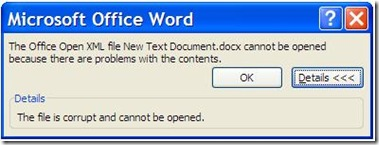 Microsoft Word 2003 Document Corrupt