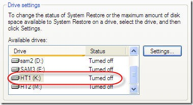 system restord is now turned off