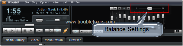 winamp balance settings