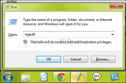 regedit windows 7