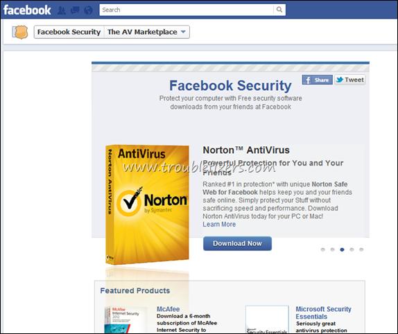 free facebook antivirus