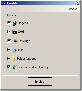 re-enable