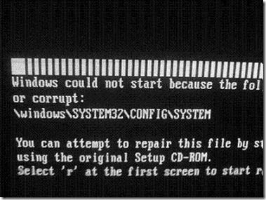 invalid boot.ini file