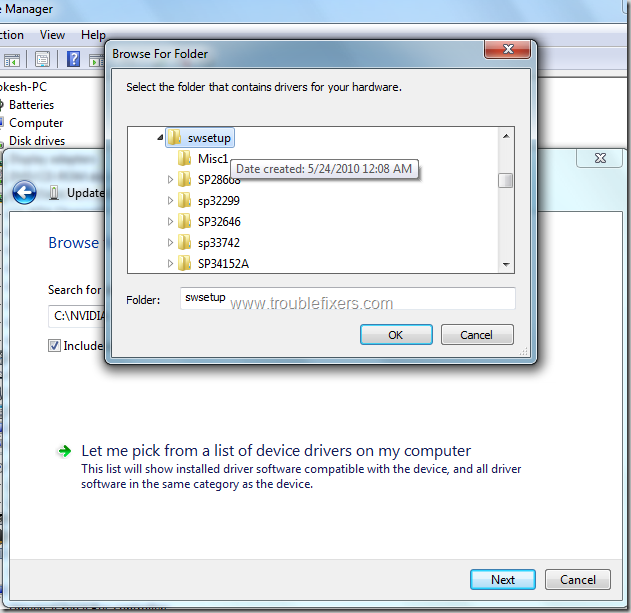 loacte-drivers-folder