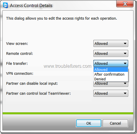 team-viewer-access-control-details