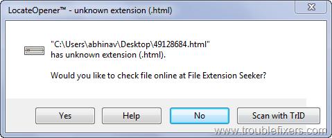 Find, Open Unrecognized File Type Program | TroubleFixers