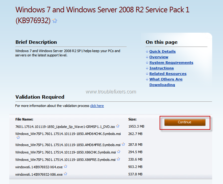 win 7 service pack 1 64 bit free download