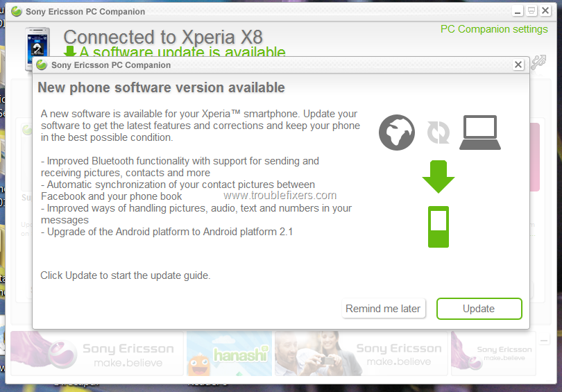 Sony Ericsson Xperia X8 Official Firmware Update To Android 2 1