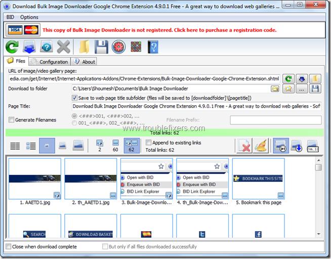 Bulk Image Downloader 4