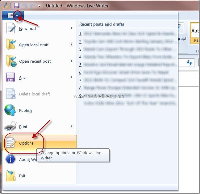Windows-Live-Writer-Options