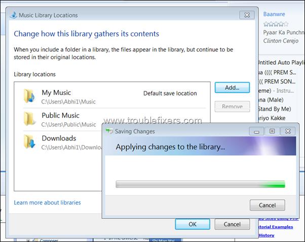 add folder to windows media player