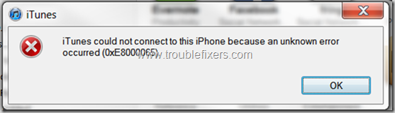 iTunes Could Not Connect To This iPhone