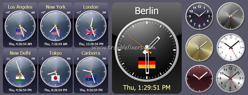 Windows Desktop Showing Time Date Of