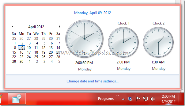 Windows Desktop Showing Time Of Different Countries Time Zones With Multiple Clocks