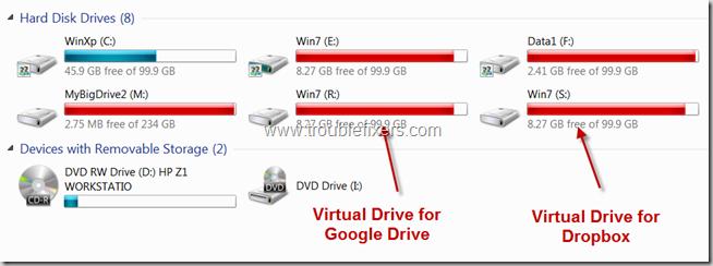 Virtual Drives Created in Windows