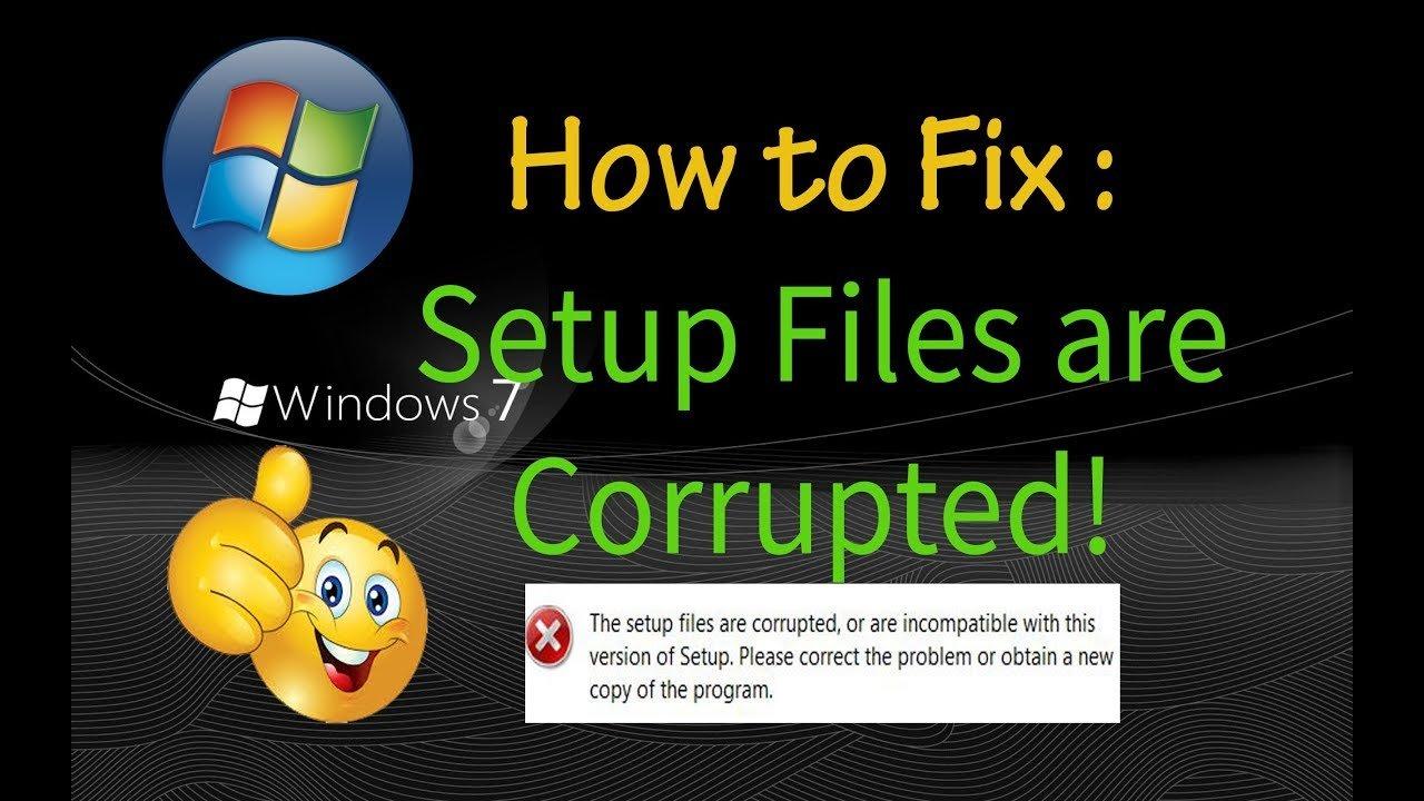 Exe Setup Files Don't Run In Windows
