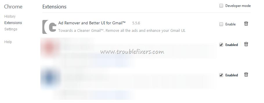 Delete Entries Options in Google Chrome Right Click Menu