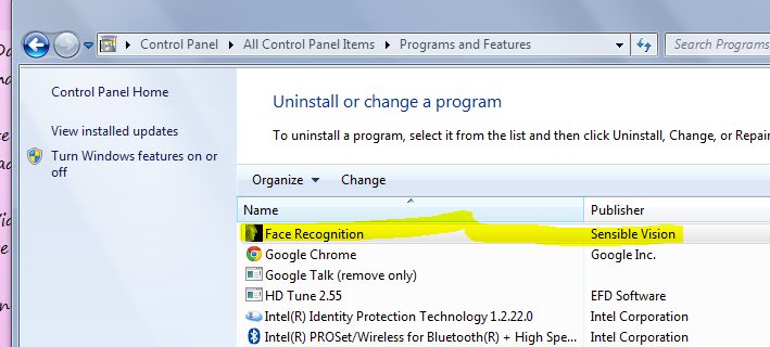 Disable Fast Access Face Recognition On Dell Laptops