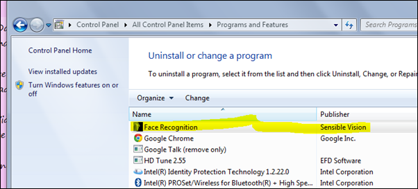 Remove Face Recognition in Windows