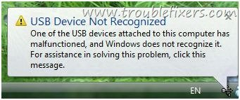 Usb Flash Does Not Recognized In Windows