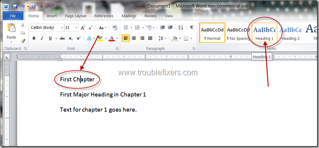 Generate Table Of Content In Microsoft Office Word (5)