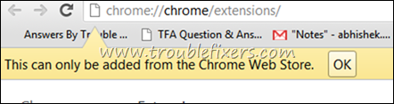 This can only be added from the chrome web store