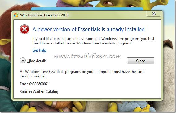 all live essentails programs same version number