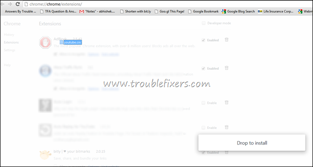 drag and drop google chrome extensions