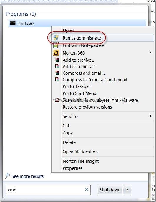 run command prompt in admin mode