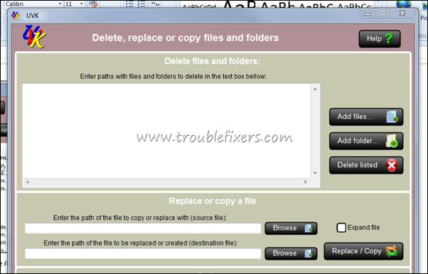 Delete a File Using UVK