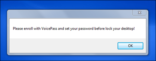 add voice password in windows