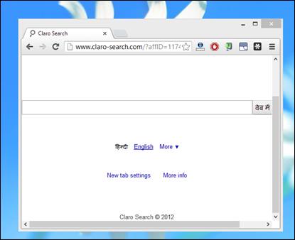 claro_search_page_hijack_in_google_chrome_