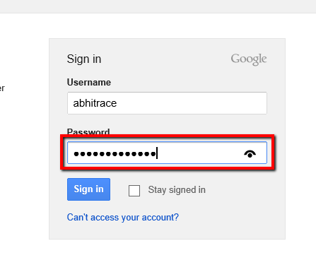 Remove Eye Option To View Password in IE in Windows 8